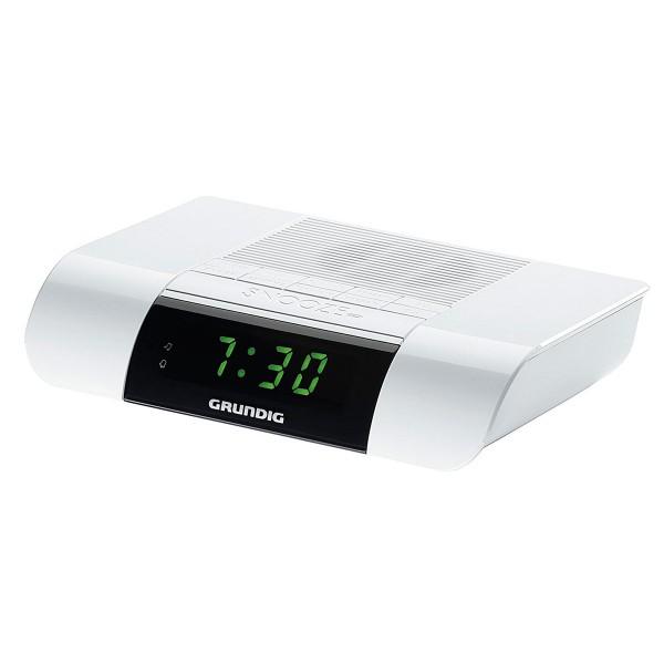 Grundig ksc 35 blanco radio despertador con radio fm con sonido extra-fuerte