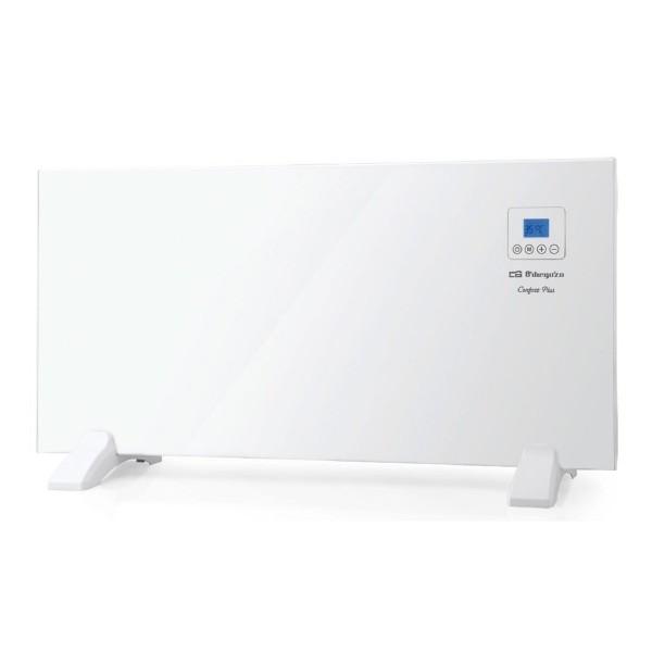 Orbegozo reh 1000 blanco panel radiante 1000w pantalla lcd con control táctil termostato digital programador incluye mando a distancia