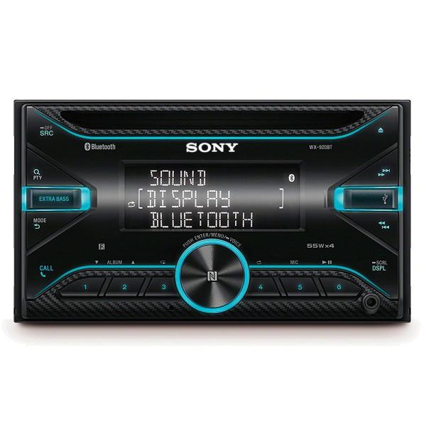 Sony wx-920bt receptor de cd con bluetooth 4x55w para el coche extrabass con control por voz usb y aux