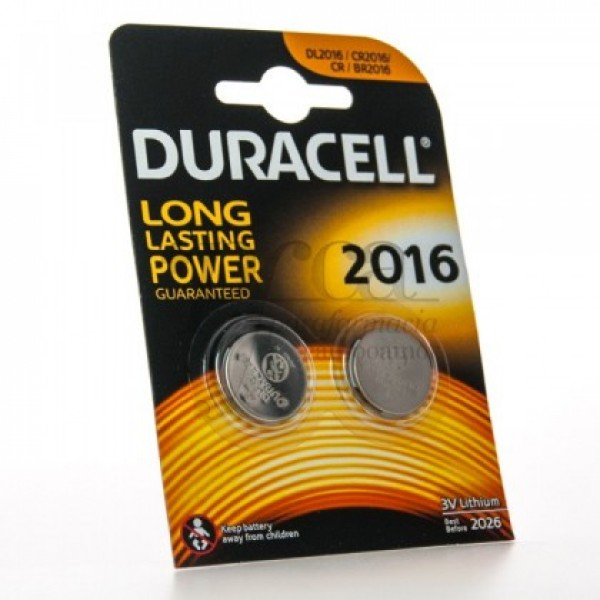 DURACELL DL 2016 3V 2 BATERIAS DE LITIO