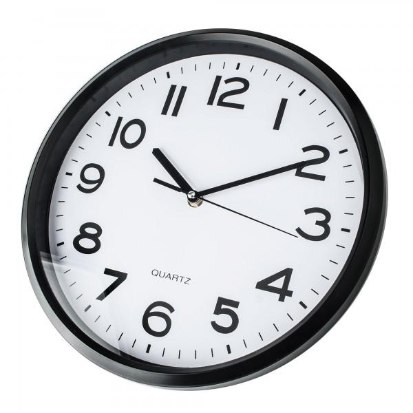 Reloj kuken blanco/cromo cuadrado 20cm