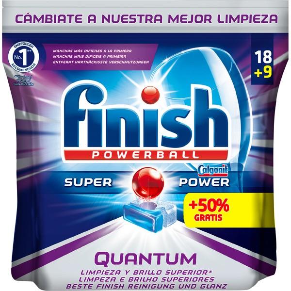 Finish lavavajillas quantum pastillas 18 + 9 pastillas gratis