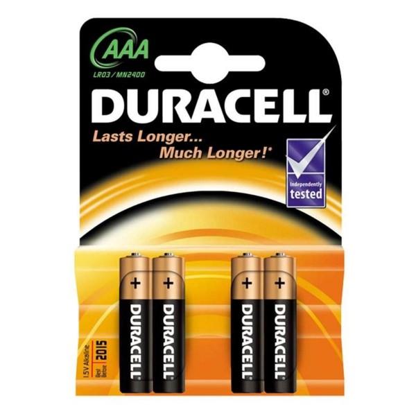 Duracell basic aaa pilas lr03 4un.