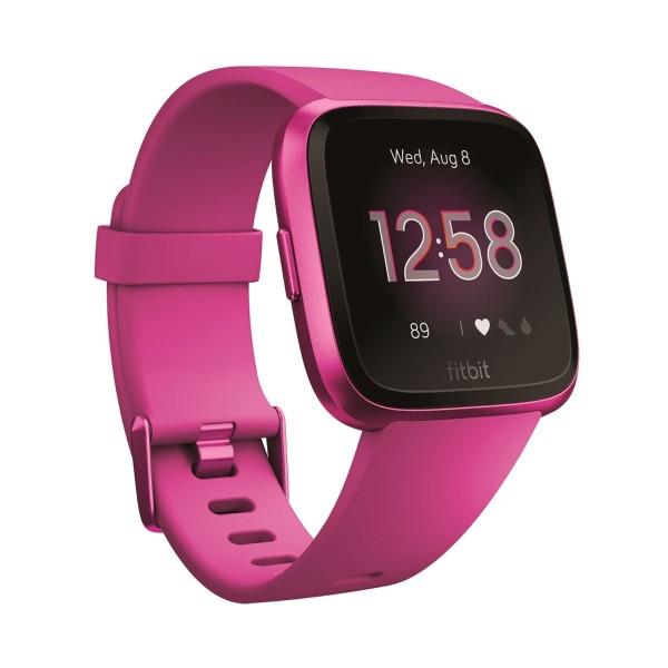 Fitbit versa lite lila aluminio smartwatch reloj deportivo con pantalla táctil y correa lila