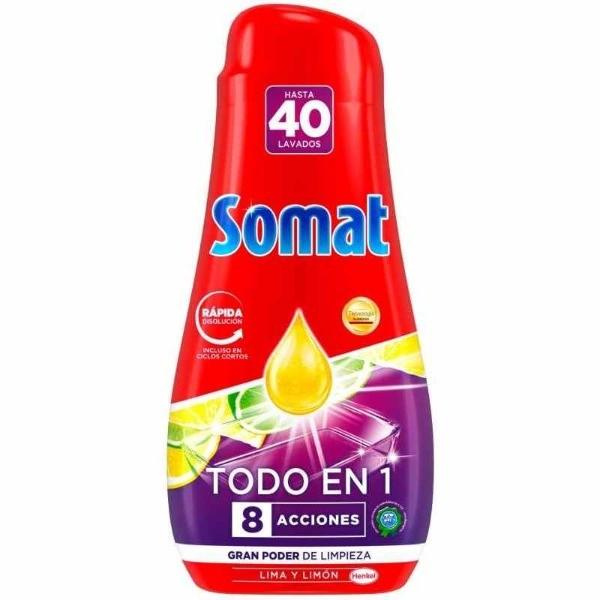 Somat gel  lavavajillas Lima y Limón  40 lavados 720 ml