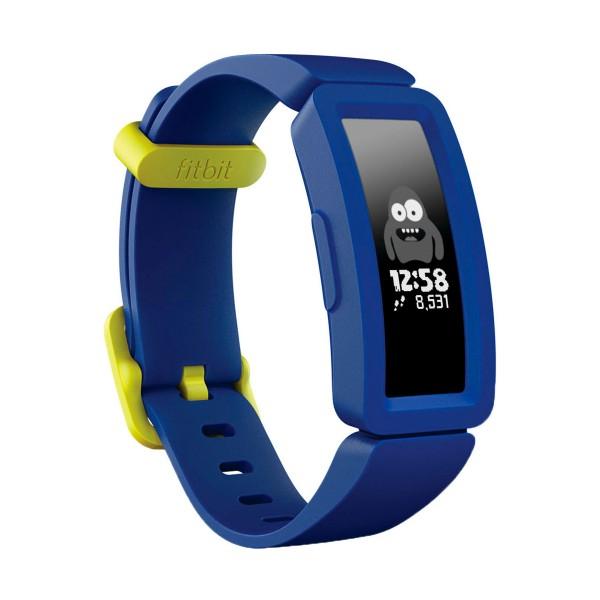 Fitbit fb414bkbu ace2 cielo nocturno pulsera de actividad infantil pantalla oled con cierres amarillo neón