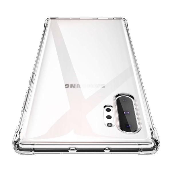 Jc funda silicona transparente samsung galaxy note 10+ bordes reforzados