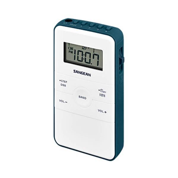 Sangean dt-140 blanco radio de bolsillo fm am batería recargable