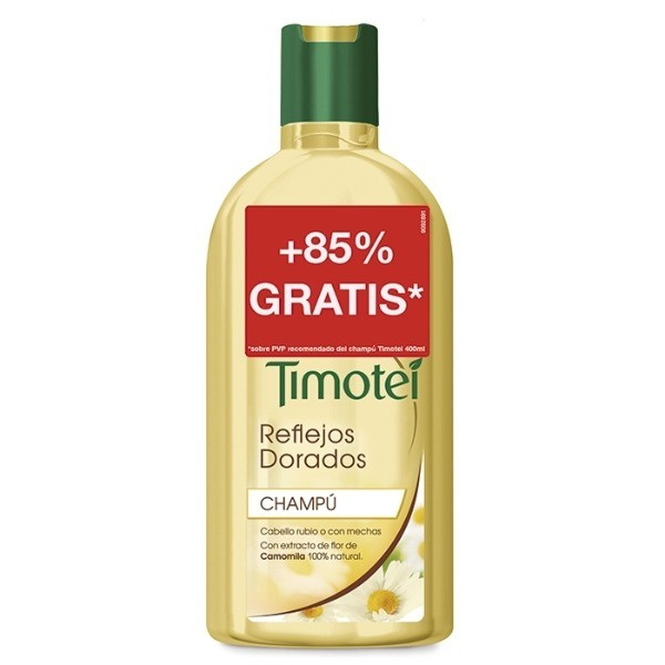 Timotei Champú Reflejos Dorados 400 + 350 ml
