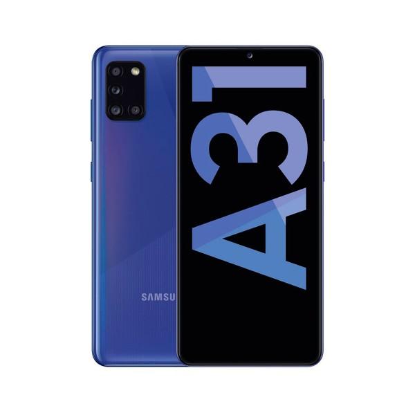 Samsung a31 blue móvil 4g dual sim 6.4'' samoled fhd+/8core/64gb/4gb ram/48+8+5+5mp/20mp