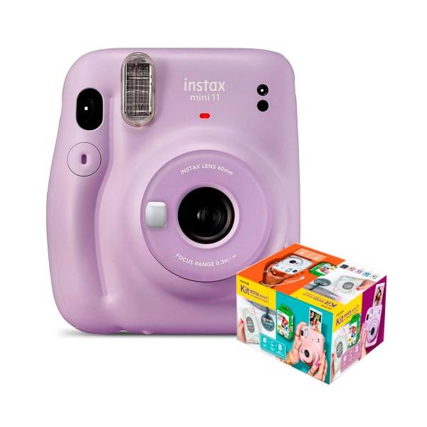 Fujifilm instax mini 11 lila cámara instantánea kit mr. wonderful