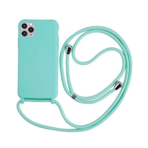 Jc carcasa trasera silicona tacto suave con cuerda colgante para iphone x/xs